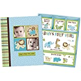 Baby Boy Memory Book Hardcover Record Babys First Five...