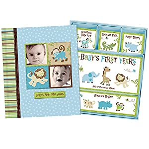 Baby Boy Memory Book Hardcover Record Babys First Five Years...