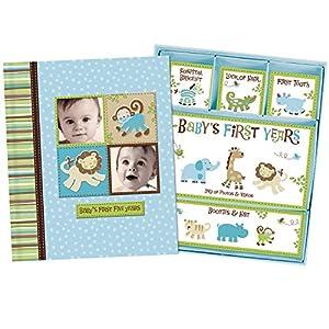 Baby Boy Memory Book Hardcover Record Babys First Five Years Diary Precious Moments Milestone Storage Box Keepsake…