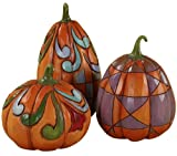 Enesco 4027805 Jim Shore Heartwood Creek Mini Pumpkins Figurine, 4-Inch, Set of 3