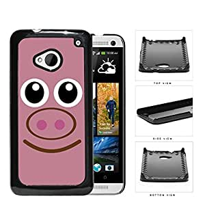 Cute Pink Piggy Face Animal Hard Snap on Phone Case Cover Android HTC One M7