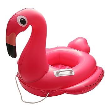 Bebé Flotador, ibanana niños bebé niño infantil Kids Flamingo inflable piscina flotador asiento anillo con 2 asa y safty cadena para 1 - 6 años bebé: ...