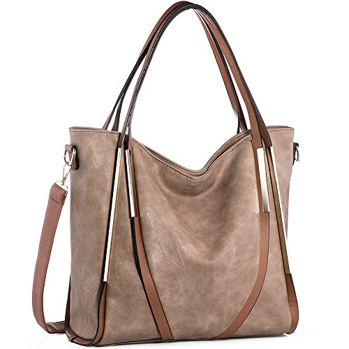Women Ladies PU Leather Top Handle Bag - 3
