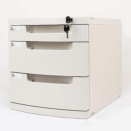 Archivadores de fichas Gabinetes for archivos Archivadores caja de almacenamiento de escritorio Muebles de oficina Archivador 3 cajones, Con cerradura Alta capacidad Puede almacenar archivos A4: Amazon.es: Hogar