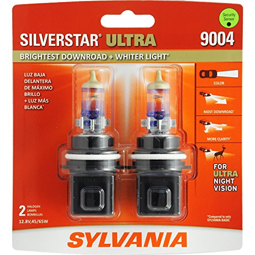 SYLVANIA 9004 SilverStar Ultra High Performance Halogen Headlight Bulb, (Contains 2 Bulb) ()
