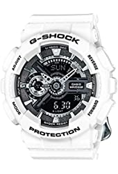 Casio G-Shock Black Dial Resin Quartz Ladies Watch GMAS110CW-7A1