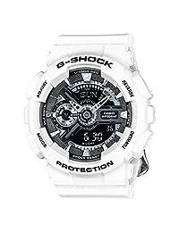 Casio G-Shock Black Dial Resin Multi Quartz Ladies Watch GMAS110CW-7A1