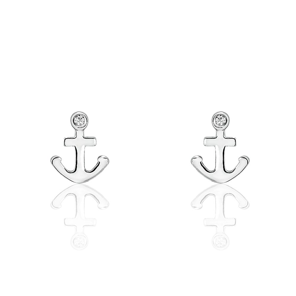 c3a8513672475 Amazon.com: Sterling Silver Fashion Anchor Earrings: Jewelry