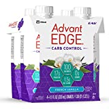 EAS AdvantEDGE Carb Control Ready-To-Drink Shake, French Vanilla, 11 Fluid Ounce (Pack of 4)