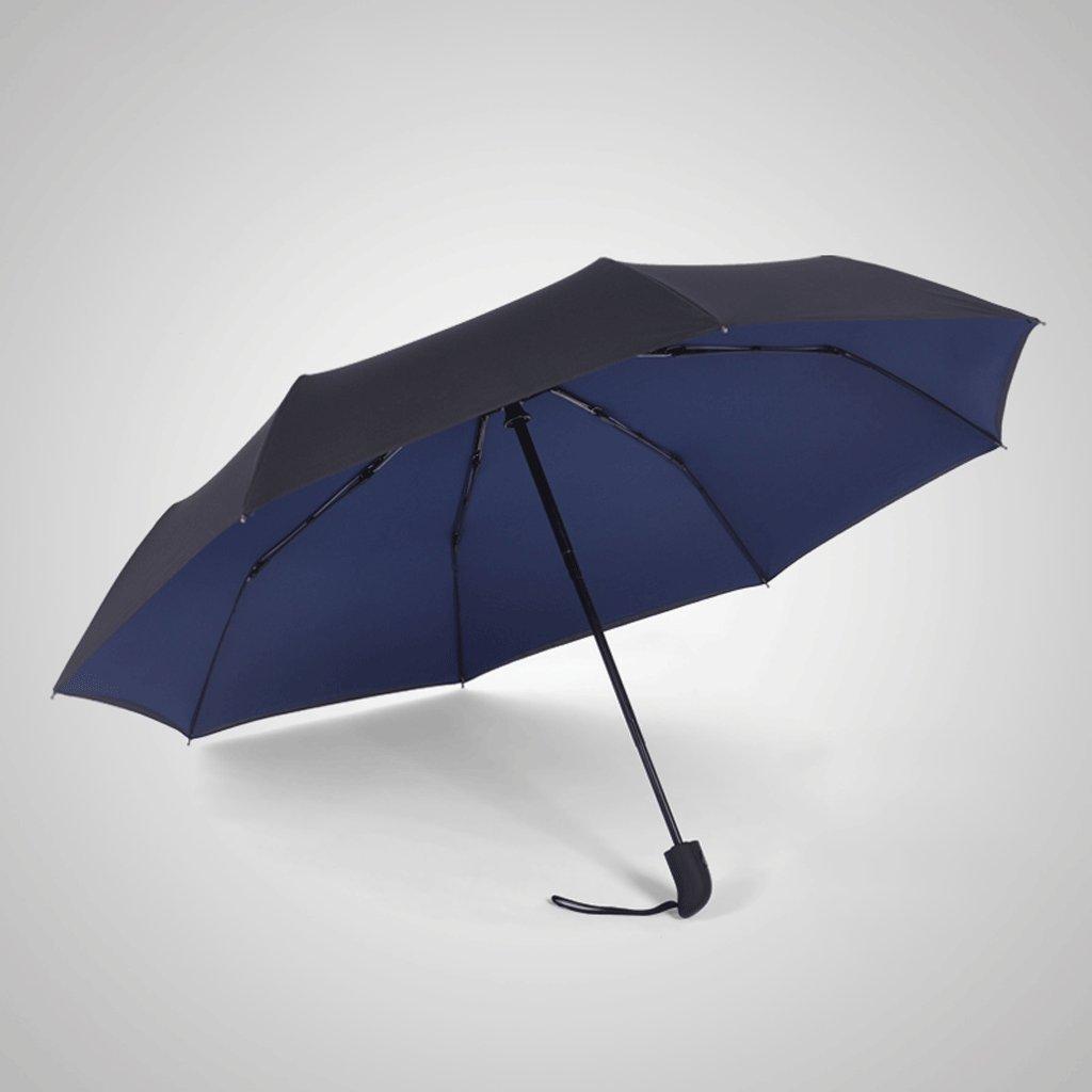Ombrello doppio antipioggia rinforzato da uomo QIQIDEDIAN (colore   Blu, dimensioni   105cm)