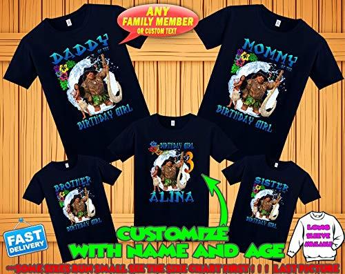30401463 Amazon.com: Moana birthday shirt, Moana and Maui birthday tshirt, Moana  theme party shirts, Moana family shirts, Moana matching shirts: Handmade