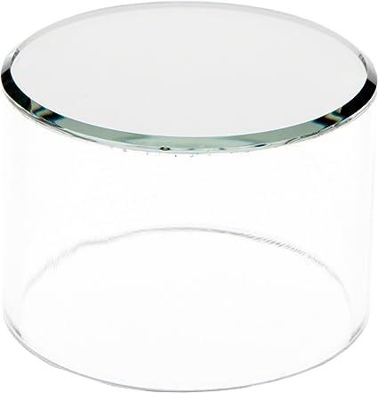 "3/"" H x 2/"" W Plymor Clear Acrylic Solid Cylinder Round Display Riser"