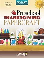 Preschool Thanksgiving Papercraft: Craft your very own paper Thanksgiving dinner, perfect for display!