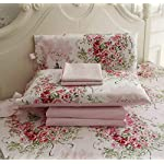 FADFAY-Rose-Floral-4-Piece-Bed-Sheet-Set-100-Cotton-Deep-Pocket-Queen