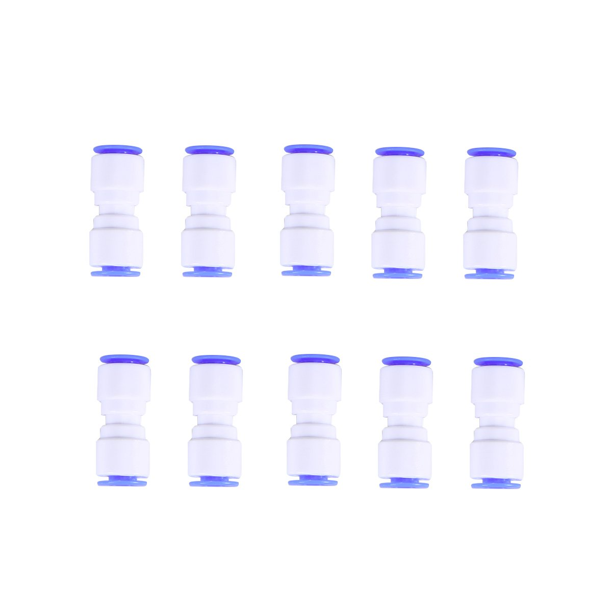 BESTOMZ RO Filtro acqua, Attacco rapido dritto a pressione da 1/4 di pollice per RO Filtro acqua 10 pezzi