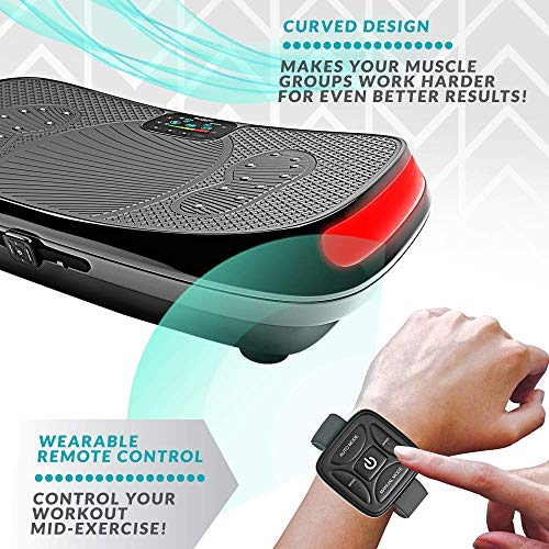 Bluefin Fitness 4D Triple Motor Vibration Plate | Powerful | Magnetic Therapy Massage | Curved Surface | 4.0 Bluetooth Speakers | Vibration Oscillation & Micro Vibration | 3 Silent Drive Motors by Bluefin Fitness (Image #4)