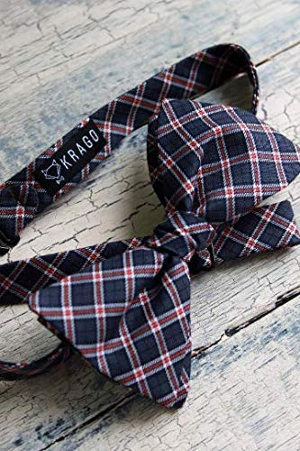 Checkered Bow tie British bow tie Black bow tie Red bow tie Print bow tie Self-tie bow tie Student accessory Bow Tie mens Bow tie womens Krago