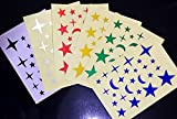 SUN RISE 6 pcs/lot Outdoor Bicycle Bike Reflective Irregular Stars Sticker Decals