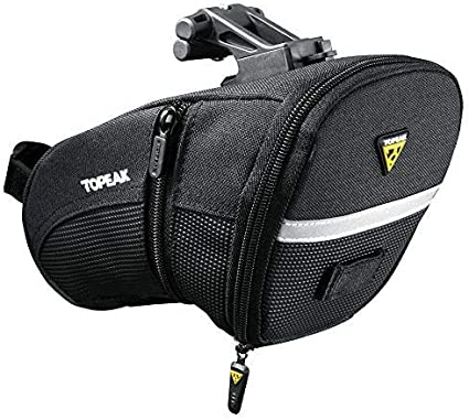 TOPEAK Aero Wedge Pack (Quickclick), Talla L, Unisex Adulto, Black/Silver: Amazon.es: Deportes y aire libre