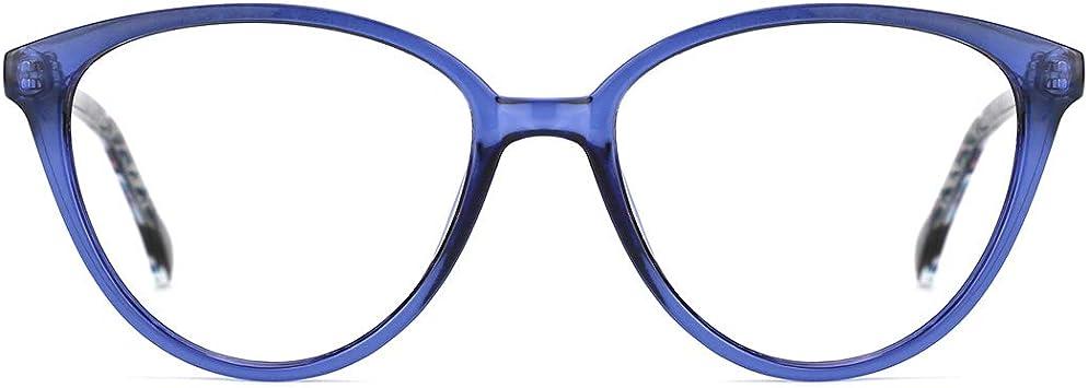 TIJN Unisex Round Blue Light Filter Glasses with Blue Light Blocking Lenses Retro Lightweight Frame UV Blocker Computer Eyewear
