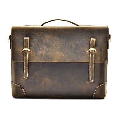 "Hølssen Briefcase Messenger 13"" Laptop Genuine Leather Bag chic"