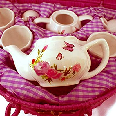 Delton Products Butterfly Tea Set: Toys & Games