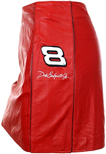 Vintage Dale Earnhardt Jr. #8 Bud Women's Smooth Red Leather Skirt (Medium)