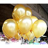 """100 Pack Gold Latex 12"""" Balloons"""