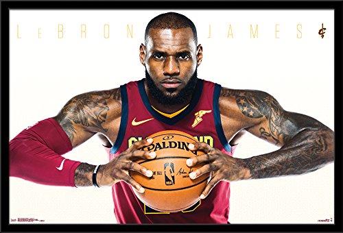 Cavaliers Framed Wall (Trends International Cleveland Cavaliers-Lebron James Framed Poster, 24.25