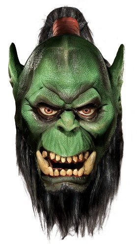 Deluxe Latex Orc Mask (Rubie's Costume Co World Of Warcraft Deluxe Latex Mask, Orc, Brown, One Size by MCS)