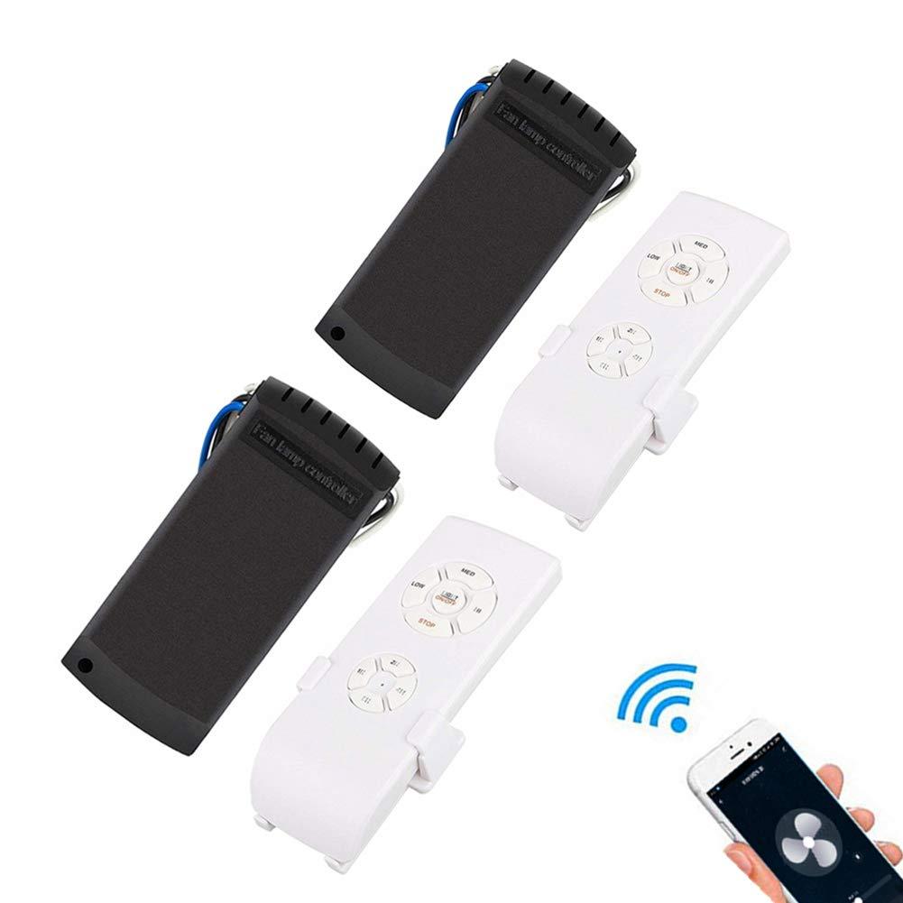 QIACHIP Universal WiFi Ceiling Fan Remote Control Kit Timing Wireless Control,WI-FI Smart Universal Ceiling Fan with Amazon Alexa (2 Packs)