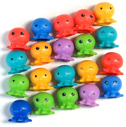 Octopus Rubber Pencil Toppers (20) (Rubber Octopus)