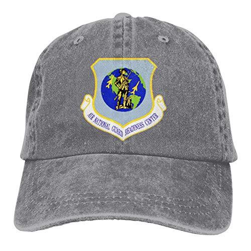 US Air Force Air National Guard Readiness Center Baseball Cap Men Women - Cotton Made Classic Adjustable Plain Hat Gray