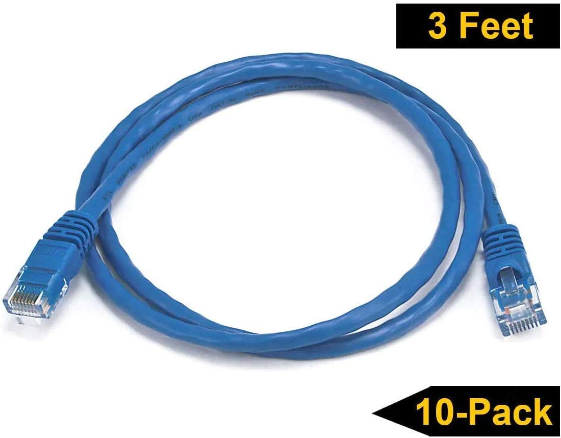 10 ft Cat 6 Cable Black Network Cable Patch Cable 10ft Molded Cat6 Cable Cat6 Ethernet Cable Ethernet Cord