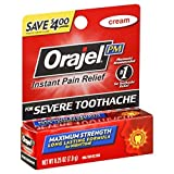 Orajel Maximum Strength Nighttime Toothache Pain Relief Cream - 0.25 Oz