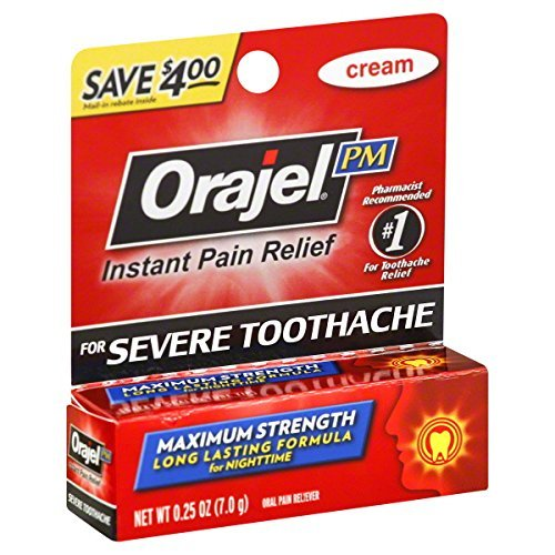 Orajel Toothache Pain Relief - Orajel Maximum Strength Nighttime Toothache Pain Relief Cream - 0.25 Oz