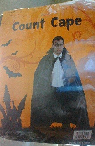 Halloween Adult Men's Black Count Cape Costume