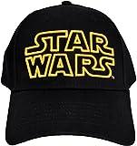 Classic Star Wars Embroidered Logo Outline Adult Hat Baseball Cap, Black