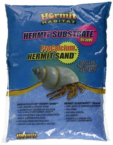 2 Lb Hermit Crab - Hermit Habitat Terrarium Sand, 2-Pound, Blue