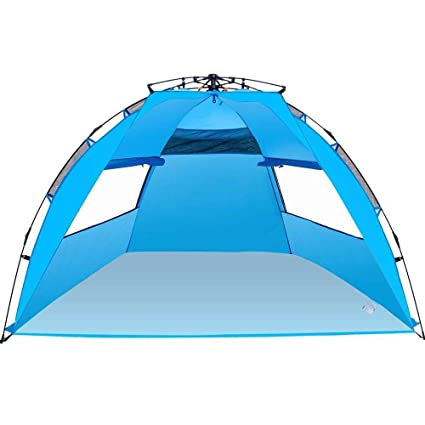 Amazoncom Amagoing 3 4 Person Instant Pop Up Beach Tent Sun