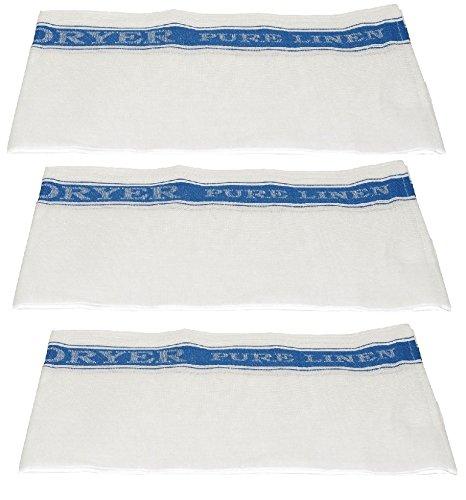 McCaw Allan Easi-Dryer Linen Glass Cloth Sets BLUE (3) by McCAW ALLAN