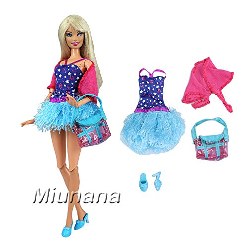 ab200640f620d3 Miunana Jupe Courte Pour Barbie + 1 Paires Chaussures Pour Barbie de  Livraison Aléatoire Avec Sac