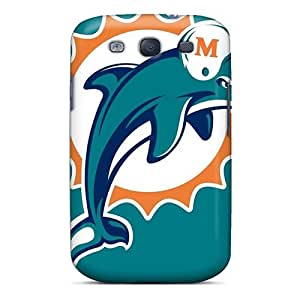 PhilHolmes Samsung Galaxy S3 Protective Hard Cell-phone Cases Allow Personal Design High-definition Miami Dolphins Series [EbP12042sFWL]