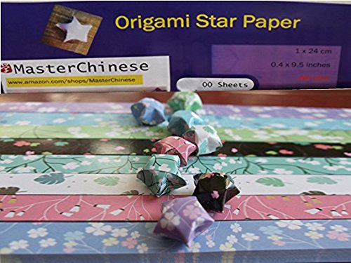 MasterChinese Origami Stars Papers Package (Flower Leaves) - 8 Colors - With Instruction
