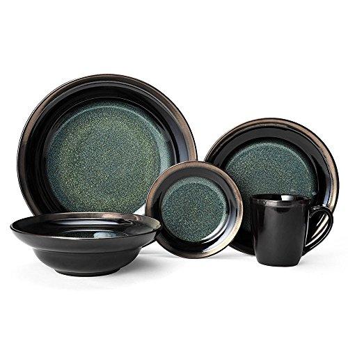 Gourmet Stoneware - Gourmet Basics Jade Dinnerware Set (60 Piece)