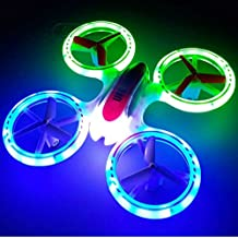 SkyCo Mini Drone Helicopter UFO Drones for Kids Lighting RC Quadcopter 2.4G 4CH 6 Axis with Fantastic LED Lights Original