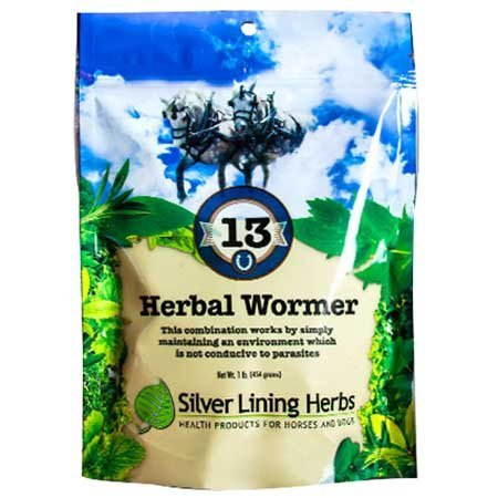 Silver Lining Herbs Natural Herbal Horse Wormer | Natural Herbs in a Proprietary Blend That Help Repel, Expel and Maintain a Horses System Worm and Parasite-Free | 1Pound ReSealable Bag | Made in USA by Silver Lining Herbs