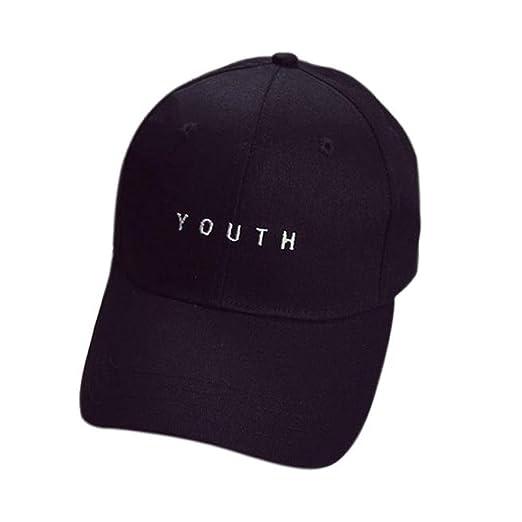 970ef4ea45c Challyhope Fashion Youth Letter Embroidery Cotton Baseball Cap Unisex Dad Hat  Snapback Hip Hop Flat Hat