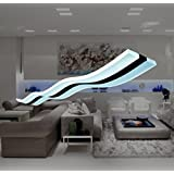 Modern.Place Modern Lighting Wave LED Pendant Light Fixture Ceiling Lamp Chandelier Bright Lighting for Contemporary Living Room Bedroom Dining Room Kitchen Home Decoration (Warm White LED)