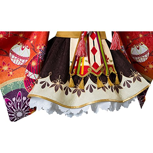 Costhat Love Live!Aqours Kunikida Hanamaru Autumn Viewing Cosplay Costume Kimono Dress by Costhat (Image #6)
